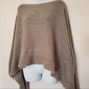 Silver Sparkly Knit Poncho